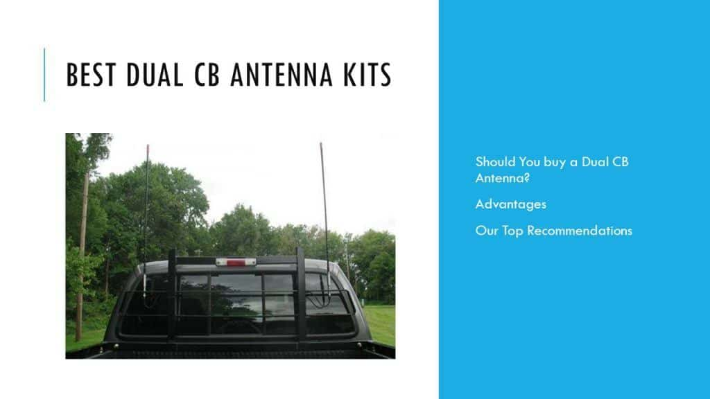 dual cb antenna kit reviews for trucks and pickups