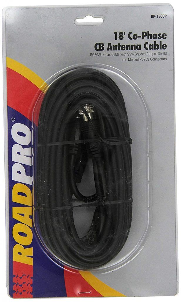 roadpro dual cb coax cable